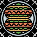 Hotdog Sandwich Fastfood Icon