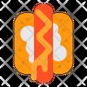 Hotdog Sausage Fast Food Icon