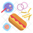 Hotdog Sausage Coke Icon