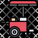 Hot Dog Cart Icon