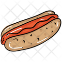 Hotdog Hotdog Sandwich Fast Food Icon