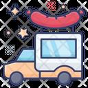 Hotdog Truck Sausage Van Food Van Icon