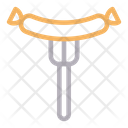 Hotdogs Sausage Fork Icon