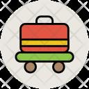 Hotel Trolley Luggage Icon