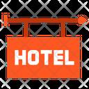 Hotel Outdoor Sign Board Icon