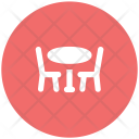 Hotel Dining Table Icon