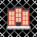Hotel Apartment Building Icon