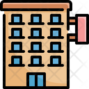 Hotel Building Property Icon