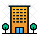 Hotel Building Travelling Icon