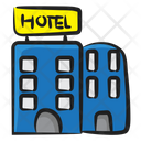 Hotel Building Infrastructure Icon