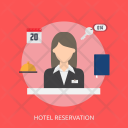 Hotel Reservation Holiday Icon