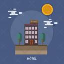 Hotel Stay Night Icon