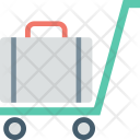 Hotel Trolley Luggage Icon
