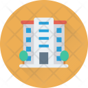 Hotel Building Real Icon