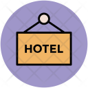 Hotel Hanging Sign Icon