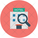 Hotel Magnifier Inspection Icon