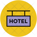 Hotel Signboard Five Icon