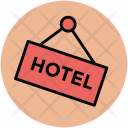 Hotel Signboard Information Icon