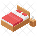 Hotel Bed Accomodation Hotel Reservation Icon