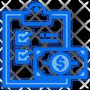 Clipboard Check Money Icon
