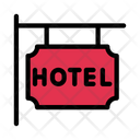 Hotel Board Sign Icon