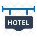 Hotel Address Signboard Icon