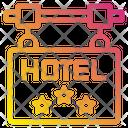 Hotel Sign Board Service Icon