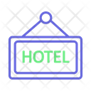 Hanging Board Hotel Board Hotel Sign Board Icon