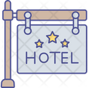 Frame Hanging Hotel Sign Board Icon