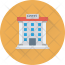Hotel Building Tree Icon