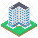 Hotel Building Motel Apartment Icon