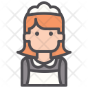 Housekeeping Maid Cleaning Icon