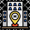 Location Pin Building Icon