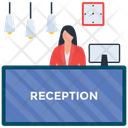 Hotel Reception Reception Front Desk Icon