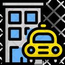 Hotel Building Taxi Icon