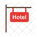 Signboard Hotel Sign Icon
