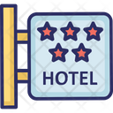 Hotel Sign Board Three Star Hotel Luxury Hotel Icon