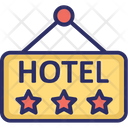 Hotel Sign Board Five Star Hotel Luxury Hotel Icon