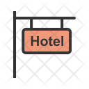 Hotel Signboard Sign Icon