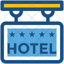 Hotel Signboard Hanging Icon