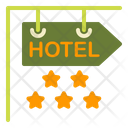 Hotel Sign Board Stars Icon