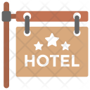 Hotel Sign Board Icon