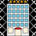 Hotle Luxury Building Icon