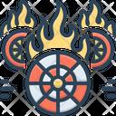Hotwheels Fire Burning Icon