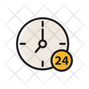 Hour Service Full Day Service Clock Icon