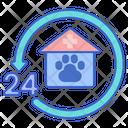 Hour Vet Veterinary Pet Icon