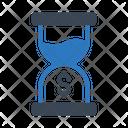 Hourglass Stopwatch Dollar Icon