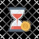 Hourglass Bitcoin Deadline Icon