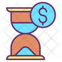 Hourglass Dollar Icon