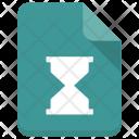 Hourglass file Icon